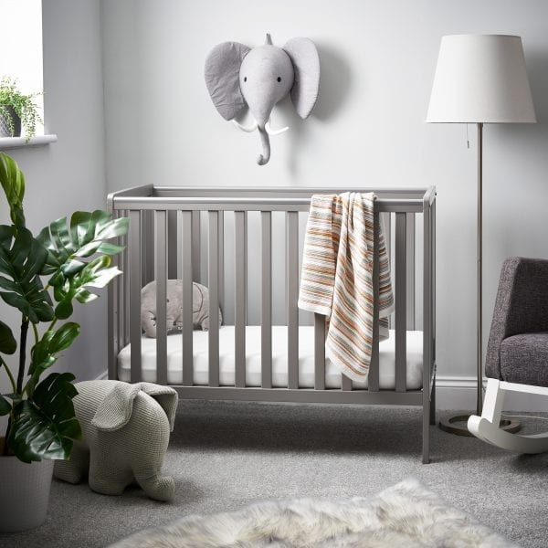 Bantam Space Saver Cot Taupe Grey