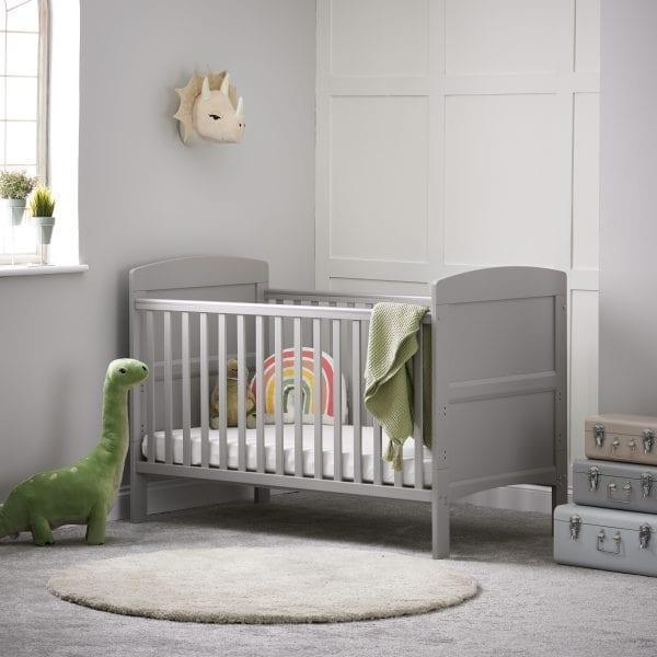 Grace Cot Bed Warm Grey