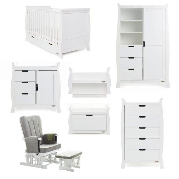 Stamford 7 Piece Nursery Set - White