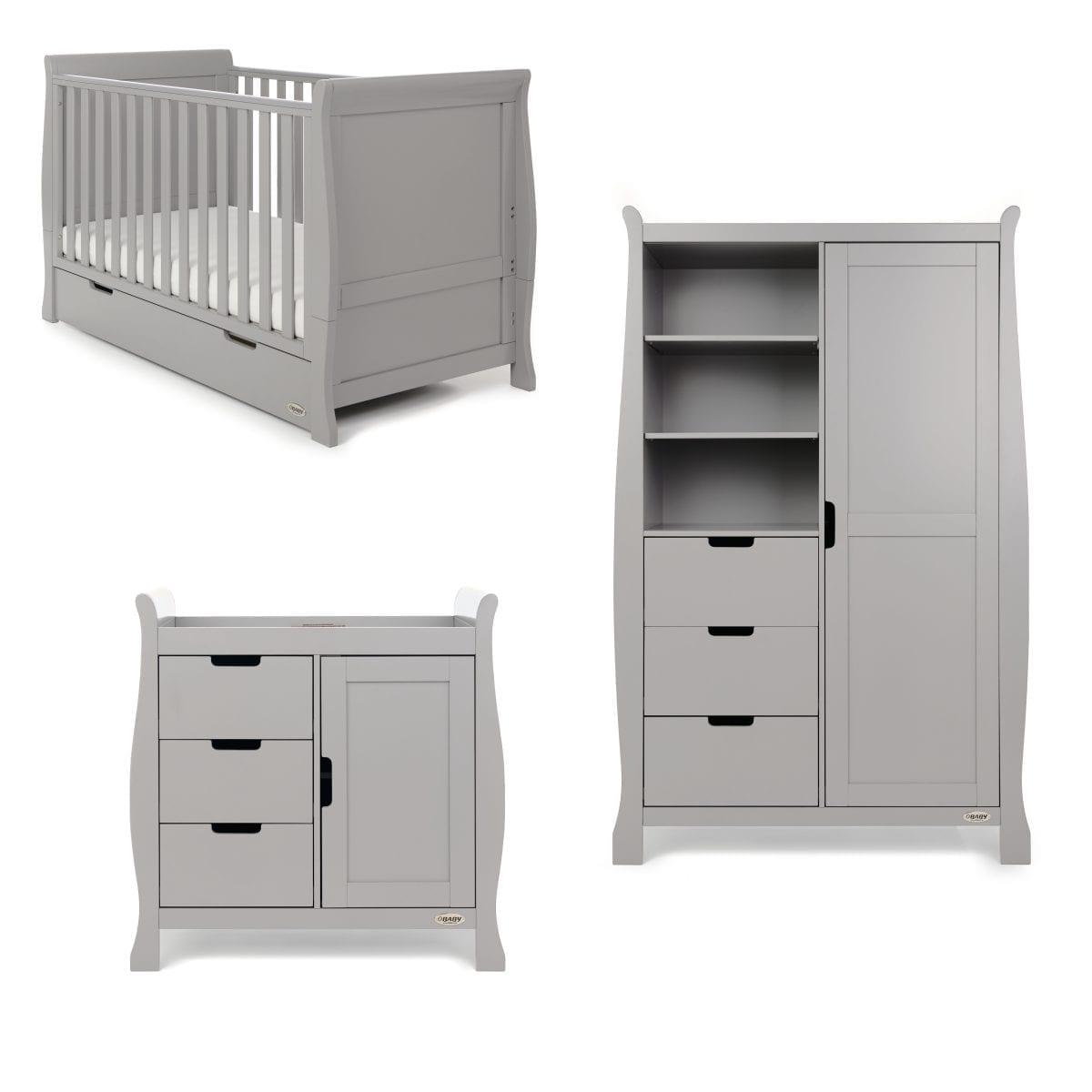 Stamford Classic 3 Piece Nursery Set - Warm Grey