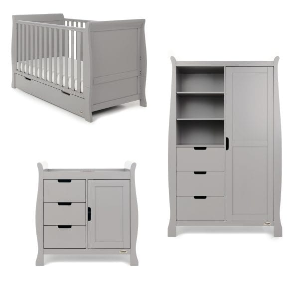 Stamford Classic 3 Piece Nursery Set - Warm Grey