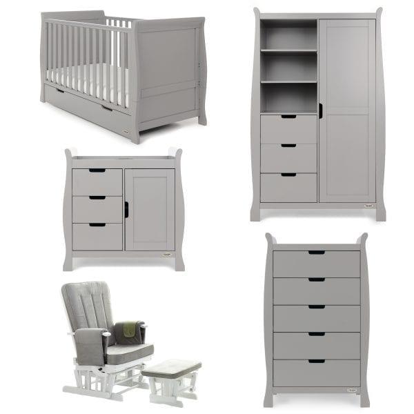 Stamford Classic 5 Piece Nursery Set - Warm Grey