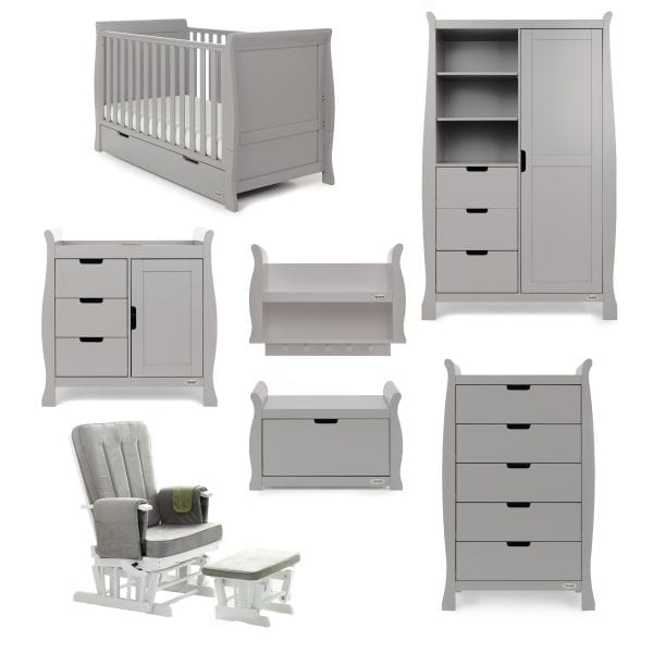 Stamford Classic 7 Piece Nursery Set - Warm Grey