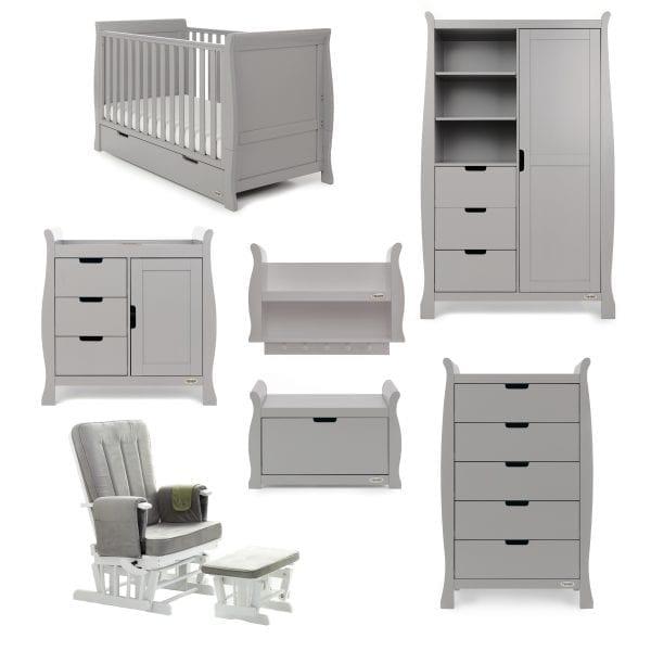 Stamford Classic 7 Piece Nursery Set - Warm Grey