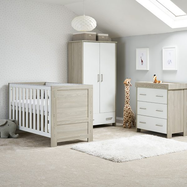 Grey Wash with White 3 Piece Nursery Set