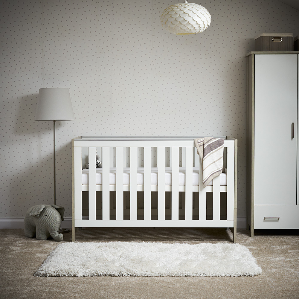 Nika Cot Bed - Grey Wash with White