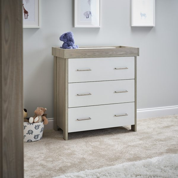 Nika Changing Unit - Grey Wash with White
