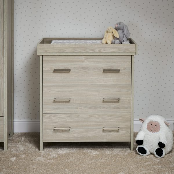 Nika Changing Unit - Grey Wash