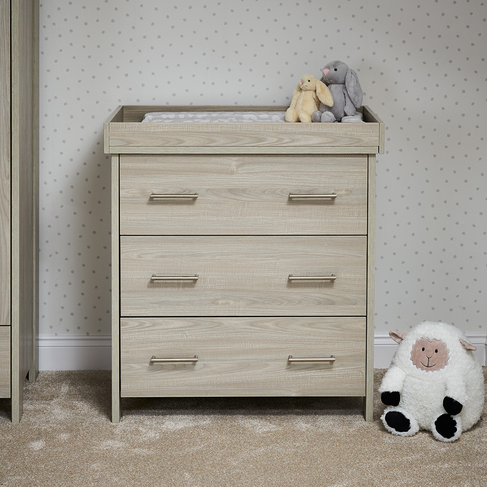 Nika Changing Unit - Grey Wash